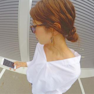 ラフ ショート ヘアアレンジ 簡単ヘアアレンジ ヘアスタイルや髪型の写真・画像
