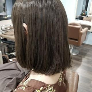 ナチュラル 透明感 ロブ グレージュ ヘアスタイルや髪型の写真・画像