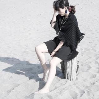 外国人風 アッシュ アッシュグレージュ セミロング ヘアスタイルや髪型の写真・画像