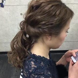 二次会 卒業式 エレガント 結婚式 ヘアスタイルや髪型の写真・画像