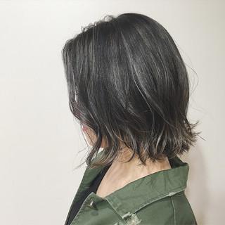 ボブ 外国人風カラー グレージュ 透明感 ヘアスタイルや髪型の写真・画像