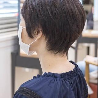 フェミニン ショート マッシュショート ショートヘア ヘアスタイルや髪型の写真・画像