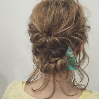 外国人風 ヘアアレンジ 結婚式 大人かわいい ヘアスタイルや髪型の写真・画像