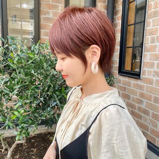 デート ショートボブ ショート 簡単ヘアアレンジ ヘアスタイルや髪型の写真・画像