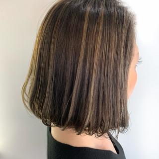大人ハイライト モテ髪 ボブ 透明感カラー ヘアスタイルや髪型の写真・画像