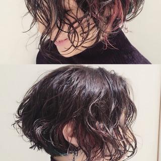 ボブ 暗髪 外国人風 ナチュラル ヘアスタイルや髪型の写真・画像