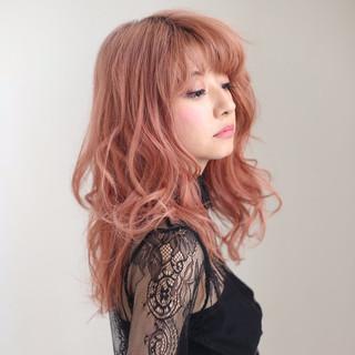 フェミニン ガーリー レッド ピンク ヘアスタイルや髪型の写真・画像