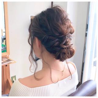 フェミニン ボブ 簡単ヘアアレンジ 結婚式 ヘアスタイルや髪型の写真・画像