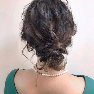 黒髪 簡単ヘアアレンジ 結婚式 ボブ ヘアスタイルや髪型の写真・画像