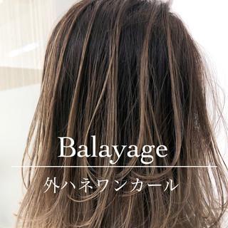 ショート バレイヤージュ 外国人風カラー グラデーションカラー ヘアスタイルや髪型の写真・画像