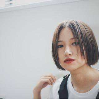 外国人風 ナチュラル ボブ 色気 ヘアスタイルや髪型の写真・画像