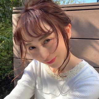 大人かわいい ナチュラル 簡単ヘアアレンジ ヘアアレンジ ヘアスタイルや髪型の写真・画像