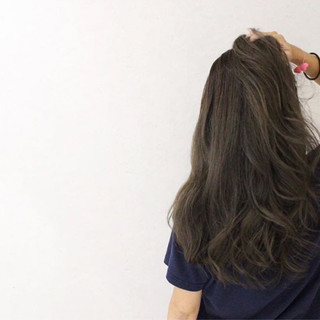 グラデーションカラー ウェーブ ロング ハイライト ヘアスタイルや髪型の写真・画像