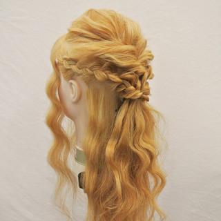 まとめ髪 ロング 編み込み ショート ヘアスタイルや髪型の写真・画像