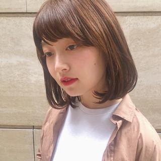 ボブ ナチュラル モテボブ 簡単ヘアアレンジ ヘアスタイルや髪型の写真・画像