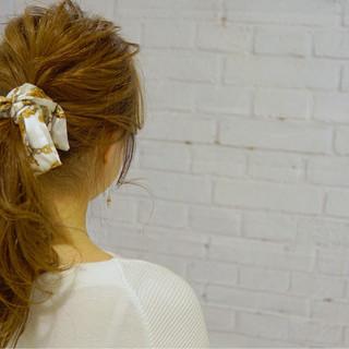 ショート ポニーテール ヘアアクセ ヘアアレンジ ヘアスタイルや髪型の写真・画像