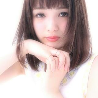 ミディアム 大人かわいい ナチュラル ピュア ヘアスタイルや髪型の写真・画像