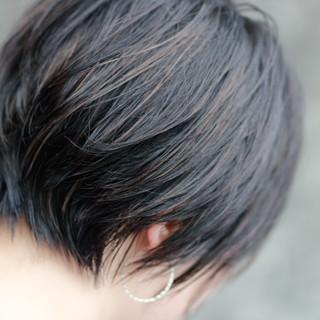 小顔ショート モテ髪 ナチュラル ショート ヘアスタイルや髪型の写真・画像