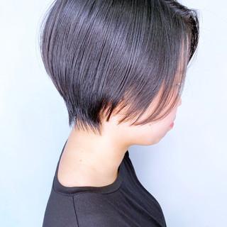 大人かわいい ショートボブ ショートヘア ナチュラル ヘアスタイルや髪型の写真・画像