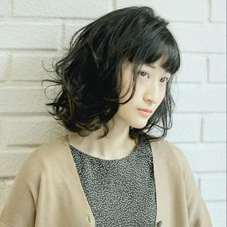 前髪あり ニュアンス ナチュラル ボブ ヘアスタイルや髪型の写真・画像