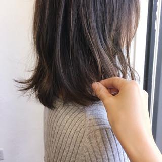 ブラウンベージュ ミディアム 大人かわいい 大人女子 ヘアスタイルや髪型の写真・画像
