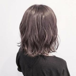 ミディアム 透明感 大人かわいい ナチュラル ヘアスタイルや髪型の写真・画像