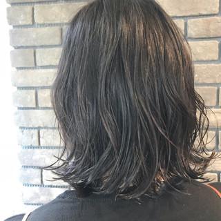 ボブ ゆるふわ パーマ ロブ ヘアスタイルや髪型の写真・画像