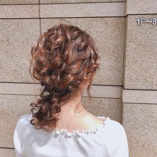ガーリー 簡単ヘアアレンジ デート アウトドア ヘアスタイルや髪型の写真・画像