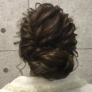 ロング アップスタイル エレガント パーティ ヘアスタイルや髪型の写真・画像