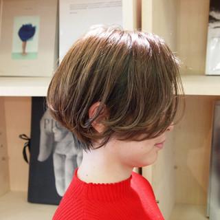 デート ショートヘア ナチュラル ハンサムショート ヘアスタイルや髪型の写真・画像