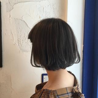 モード ボブ アッシュグレージュ 外国人風カラー ヘアスタイルや髪型の写真・画像