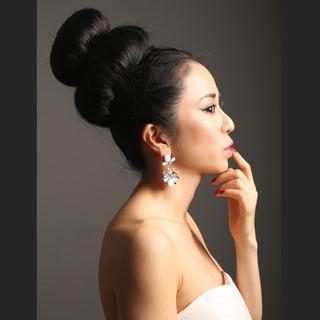 ブライダル ヘアアレンジ ロング 外国人風 ヘアスタイルや髪型の写真・画像