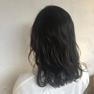 ミディアム 外国人風カラー ナチュラル 外ハネ ヘアスタイルや髪型の写真・画像