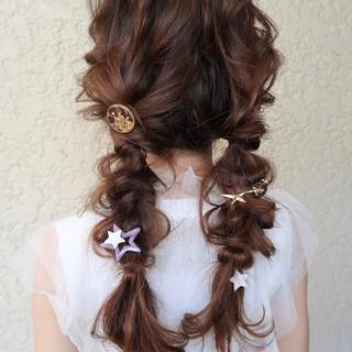 結婚式 デート ヘアアレンジ ロング ヘアスタイルや髪型の写真・画像