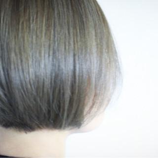 ナチュラル ボブ アッシュベージュ 大人女子 ヘアスタイルや髪型の写真・画像