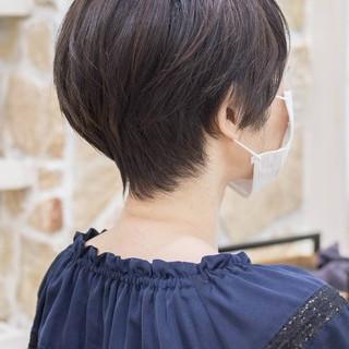ショート ショートボブ ハンサムショート ショートヘア ヘアスタイルや髪型の写真・画像