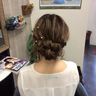 デート ヘアアレンジ 結婚式 ナチュラル ヘアスタイルや髪型の写真・画像