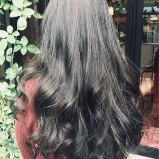 デート 黒髪 艶髪 ナチュラル ヘアスタイルや髪型の写真・画像