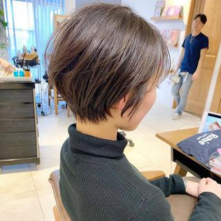 パーマ ナチュラル ヘアアレンジ ショート ヘアスタイルや髪型の写真・画像