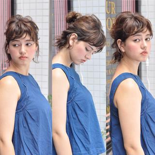 ボブ 簡単ヘアアレンジ ヘアアレンジ ショート ヘアスタイルや髪型の写真・画像