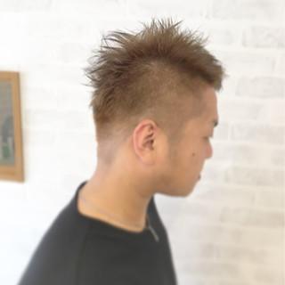 ショート ストリート ハイトーン ダブルカラー ヘアスタイルや髪型の写真・画像