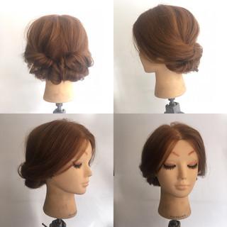 波ウェーブ ヘアアレンジ ナチュラル 結婚式 ヘアスタイルや髪型の写真・画像