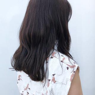 ブランジュ セミロング デート ナチュラル ヘアスタイルや髪型の写真・画像