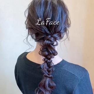 ロング お呼ばれ ヘアアレンジ フェミニン ヘアスタイルや髪型の写真・画像