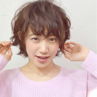 ピュア ショート フェミニン 黒髪 ヘアスタイルや髪型の写真・画像