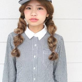 編み込み ストリート ショート ヘアアレンジ ヘアスタイルや髪型の写真・画像