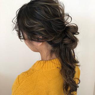 ナチュラル ロング ハーフアップ ヘアアレンジ ヘアスタイルや髪型の写真・画像