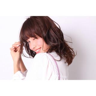 春 ミディアム ガーリー モテ髪 ヘアスタイルや髪型の写真・画像