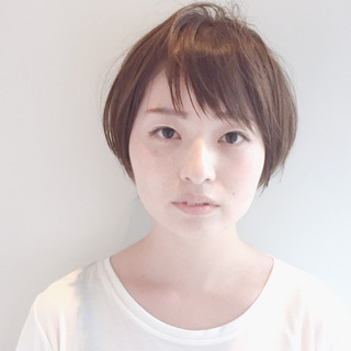 小顔 似合わせ ショート ショートボブ ヘアスタイルや髪型の写真・画像