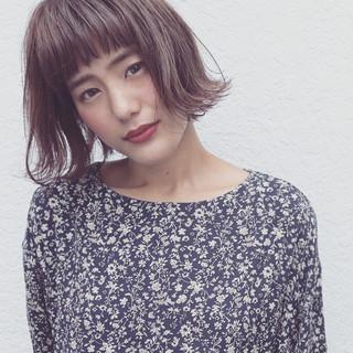 外国人風 簡単ヘアアレンジ ボブ 外ハネ ヘアスタイルや髪型の写真・画像